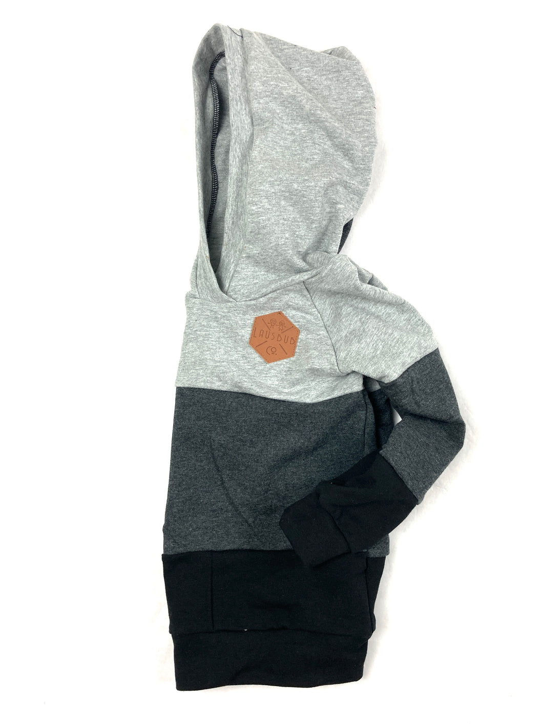 Mommy and Me Monochrome Color Block Hoodie