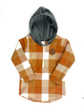 Load image into Gallery viewer, Orange Half Zip Flannel Mommy & Me