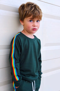 Retro Rainbow Stripe Joggers