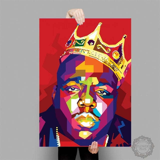 Notorious B.I.G Biggie Smalls Tupac Shakur Rapper King Art Poster Canvas Painting Wall Picture Home Decor quadro cuadros|Painting & Calligraphy