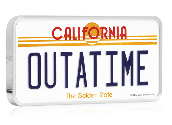 Back To The Future 35th Anniversary 2020 10oz Silver License Plate