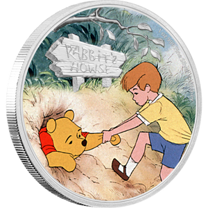 Winnie the Pooh - Pooh and Christopher Robin 1oz Silver Coin