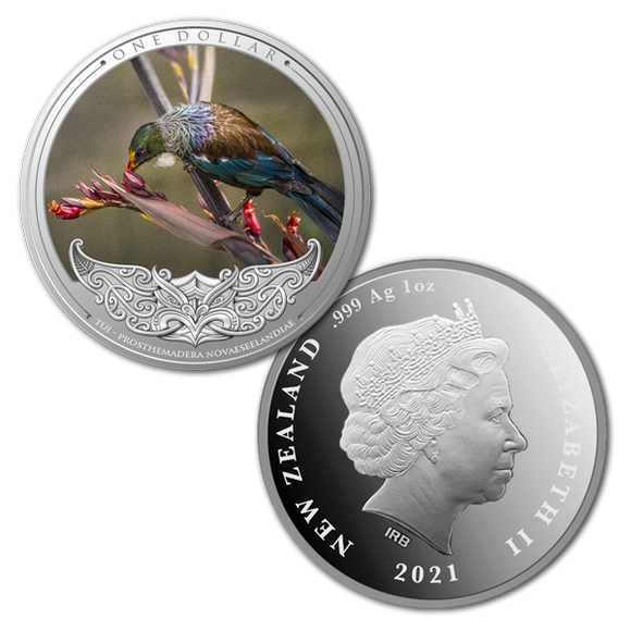 Discover New Zealand 2021 Series - Tui 1oz Silver Proof Coin