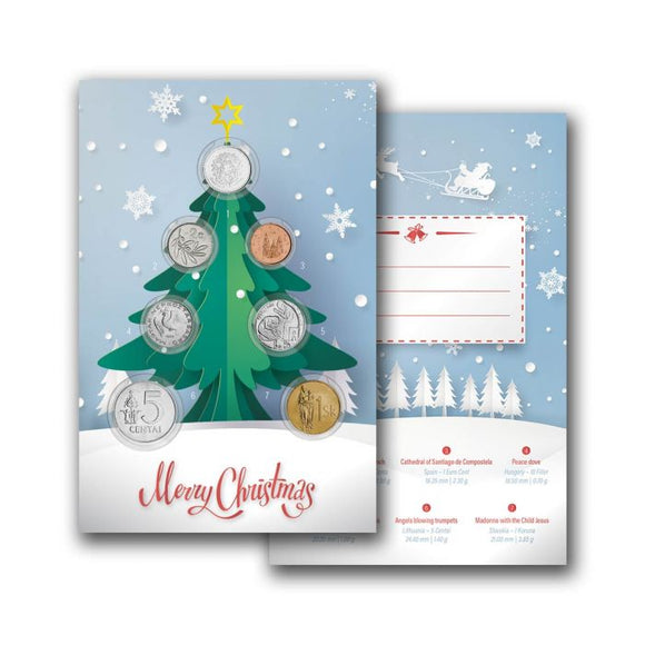 Coin Collector Christmas Card
