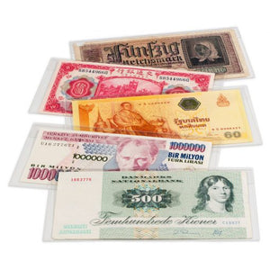 BASIC Banknote Sleeves 158 x 75mm Pk 50