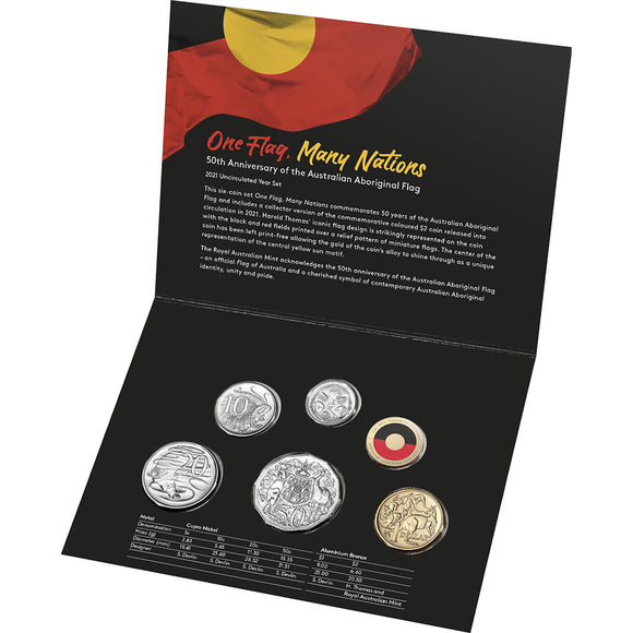 2021 Year Uncirculated Set - 50th Anniversary of the Australian Aboriginal Flag
