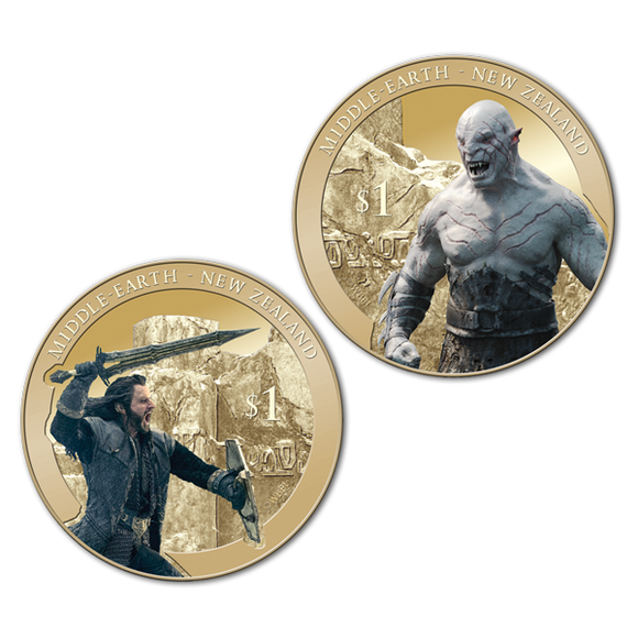The Hobbit: The Battle of the Five Armies Brilliant Uncirculated 2 Coin Set