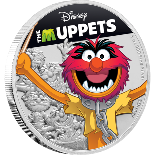 The Muppets (Disney) - Animal 2019 1oz Silver Coin