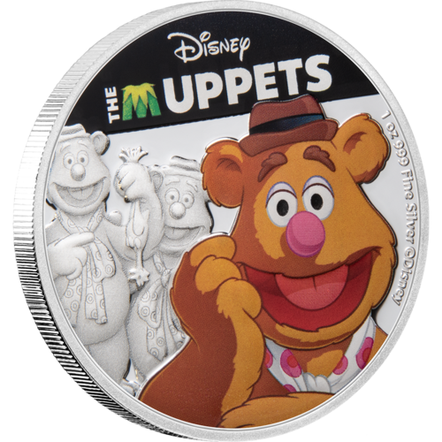 The Muppets (Disney) - Fozzie Bear 2019 1oz Silver Coin