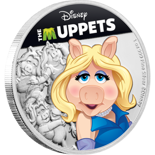 The Muppets (Disney) - Miss Piggy 2019 1oz Silver Coin