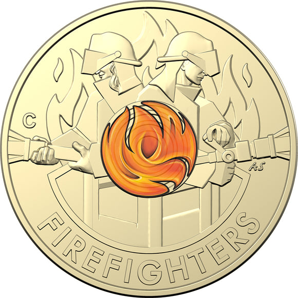 Firefighters 2020 $2 Coloured 'C' Mintmark Coin