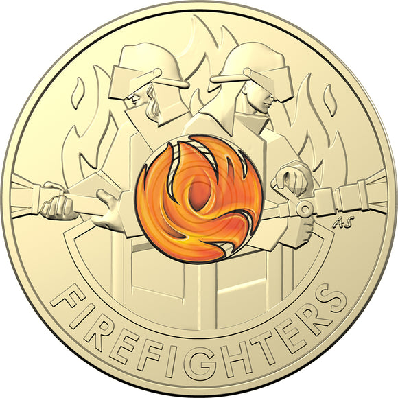 Firefighters 2020 $2 Coloured Coin in Card