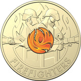 Firefighters 2020 $2 Coloured Rolled Coin