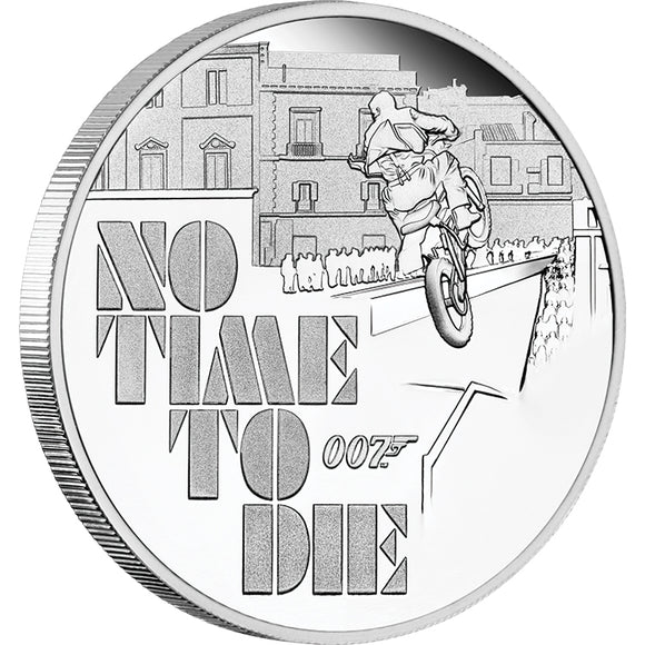 James Bond - No Time To Die 1oz Silver Proof Coin (2020)