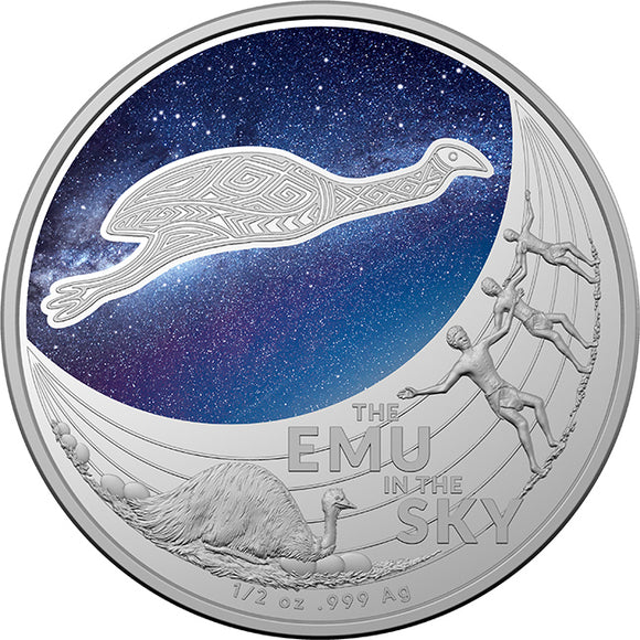 Star Dreaming - Emu in the Sky $1 Coloured 1/2oz Silver Proof (2020)