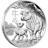Australian Lunar Series III - 2021 Year Of The Ox Lunar 1oz Silver Proof Coin