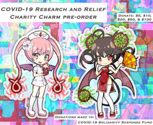 "Load image into Gallery viewer, [PRE-ORDER] Charity Charm - Ebola-chan 3"" (Double Sided) Acrylic Charm"