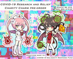 "[PRE-ORDER] Charity Charm - Ebola-chan 3"" (Double Sided) Acrylic Charm"