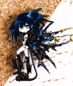 "[PRE-ORDER] Black Rock Shooter - Inexhaustible ver. 4"" Limited Edition Hard Enamel Pin"
