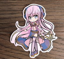 "Load image into Gallery viewer, VOCALOID - Miku, MEIKO, KAITO, Luka, Rin, & Len 4"" Stickers"