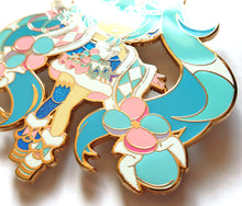 "Load image into Gallery viewer, [Limited Edition] VOCALOID - Winter Magical Mirai 2020 4"" Hard Enamel Pin PRE-ORDER"