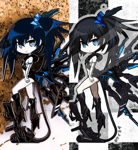 "Black Rock Shooter - BUNDLE 4"" Limited Edition Hard Enamel Pin & 3"" Acrylic charm"