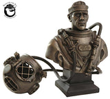 Mark V Diver Bust with Removable Helmet Cold-Cast Bronze - Beneath the Sea