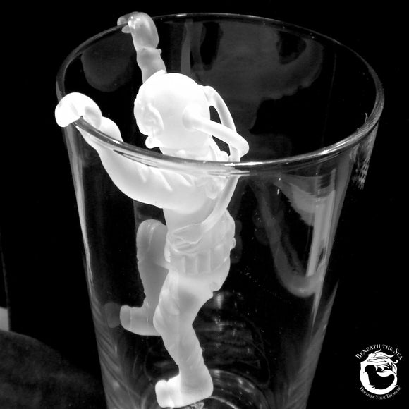 Climbing Glass Hard Hat Diver for Beer Glass - Frosted - Beneath the Sea