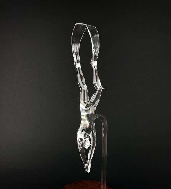 Handmade Glass Freediver Descending - Beneath the Sea