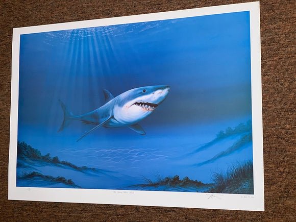 Limited Edition Signed/Numbered - 'The Great White Shark' - Beneath the Sea