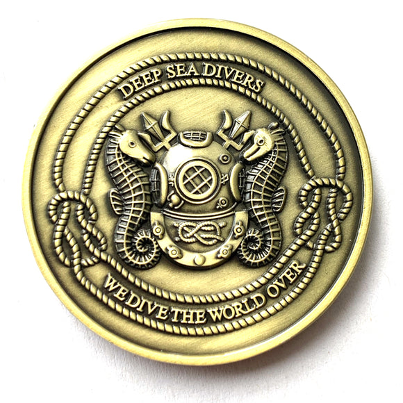 Deep Sea Diver US Navy MkV Challenge Coin - If you ain't Deep Sea - You ain't Shit! - Beneath the Sea