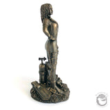 Female Scuba / Sport Diver Figurine Cold-Cast Bronze - Beneath the Sea