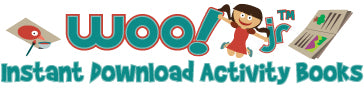 Woo! Jr. Kids Activities Instant PDF Activity Books
