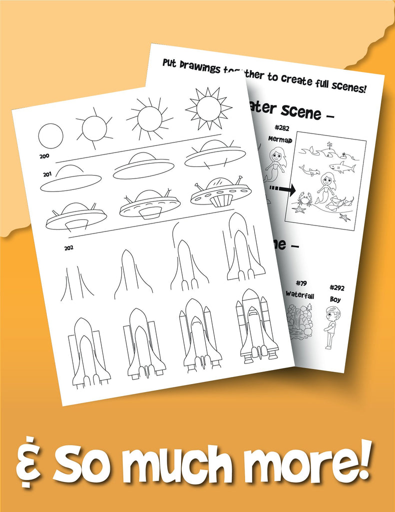 The Drawing Book for Kids: 365 Daily Things to Draw, Step by Step - Woo! Jr. Kids Activities