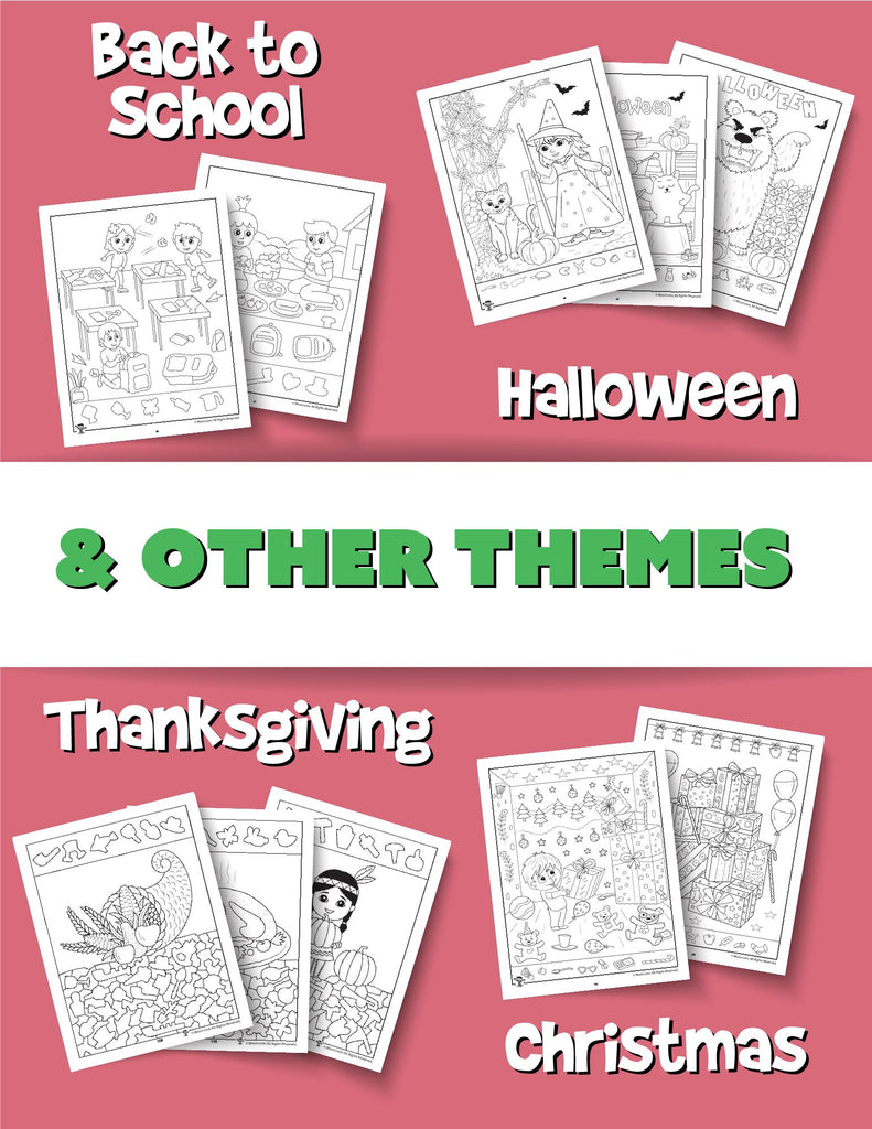 Printable PDF Hidden Pictures Bundle - Woo! Jr. Kids Activities