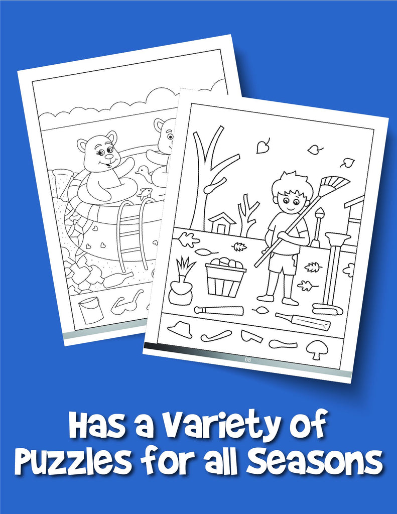 Easy Hidden Pictures for Kids Ages 3-5: A First Preschool Puzzle Book of Object Recognition - Woo! Jr. Kids Activities
