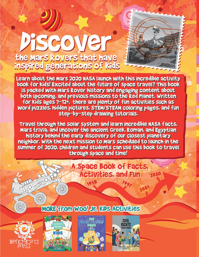 NASA Mars Mission for Kids: A Space Book of Facts, Activities, and Fun for Ages 7-12 - Woo! Jr. Kids Activities
