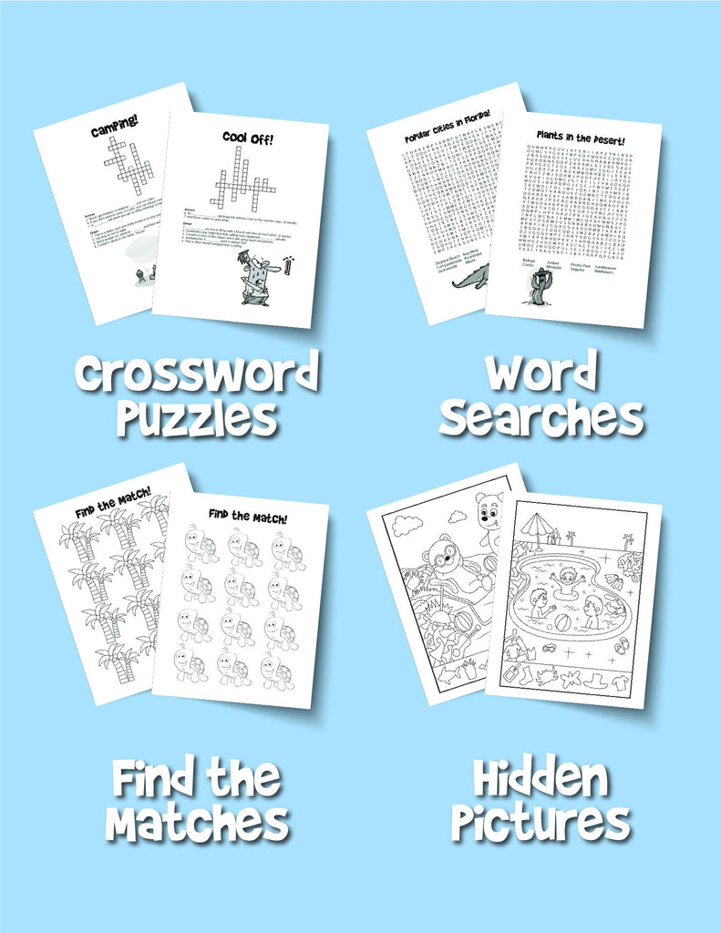 Summer Activity Book for Kids: Reproducible Games, Worksheets And Coloring Book - Woo! Jr. Kids Activities