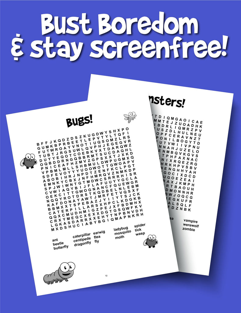 Word Search for Kids Ages 9-12: Reproducible Worksheets for Classroom & Homeschool Use - Woo! Jr. Kids Activities