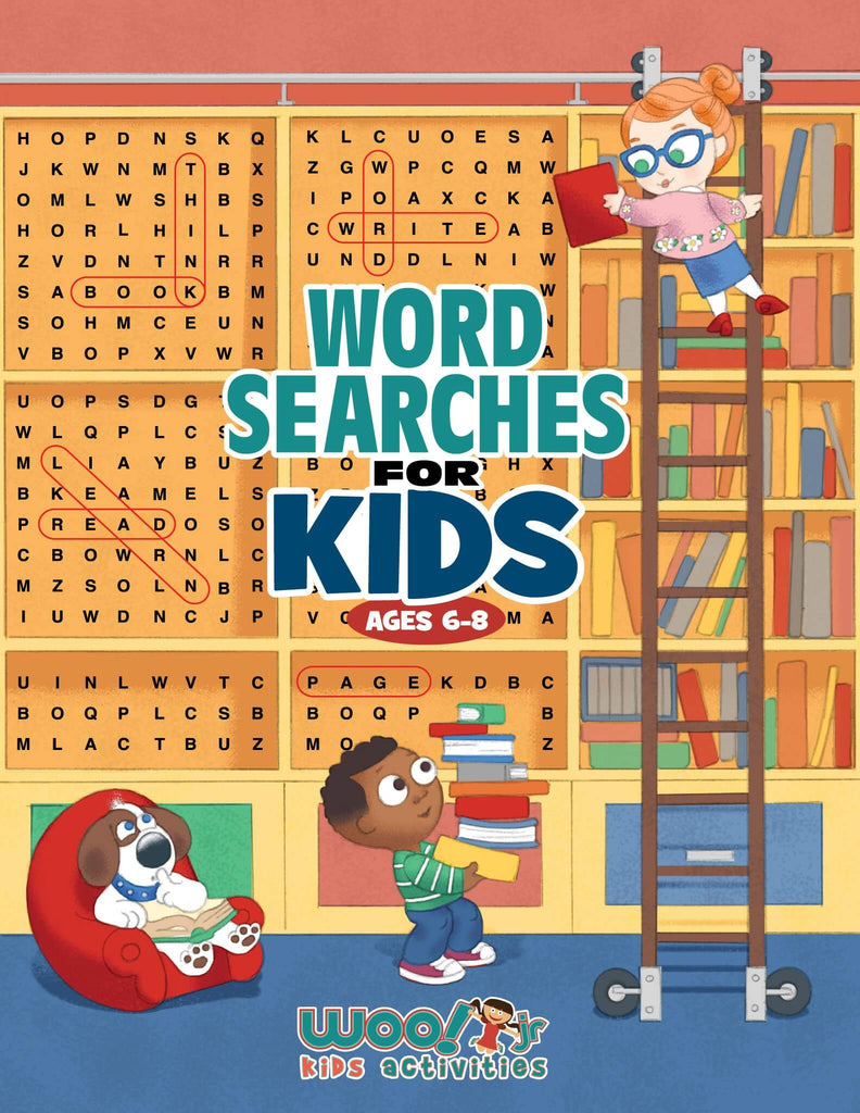 Word Search for Kids Ages 6-8: Reproducible Worksheets for Classroom & Homeschool Use - Woo! Jr. Kids Activities