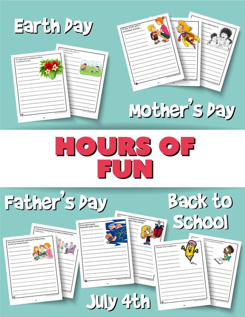250+ Printable Writing Prompts for Kids PDF Bundle - Woo! Jr. Kids Activities
