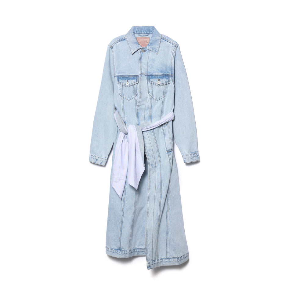 PULLED LINING DENIM COAT