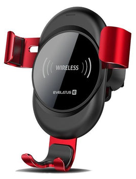 Evelatus Evelatus Car Holder Wireless Charger WCH02 Red