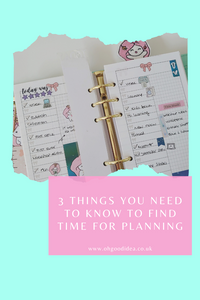 3 Things you need to know to find time for Planning