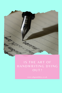 Is the art of handwriting dying out?