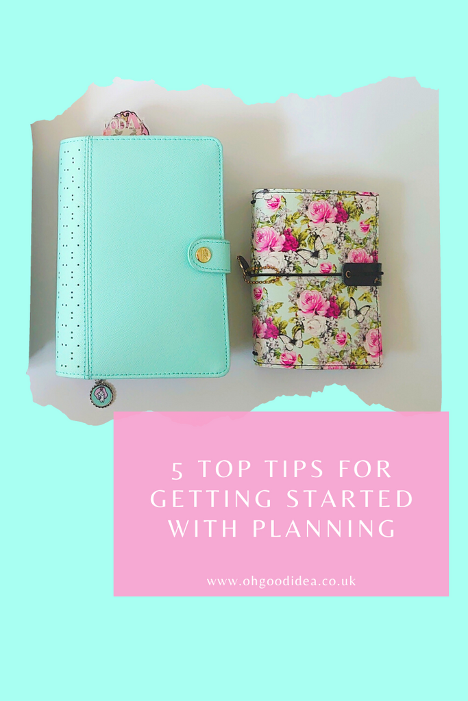5 Top Tips for getting started with Planning