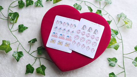 Oh! Good Idea Planner Stickers, Valentine's day Collection Stickers, Teedy