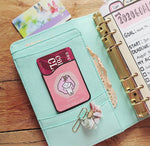 Oh! Good Idea phone card wallet, Teedy Collection, Phone Planner Accessories, ID Card Debit Store Oyster Card Adhesive Holder for phones and planners