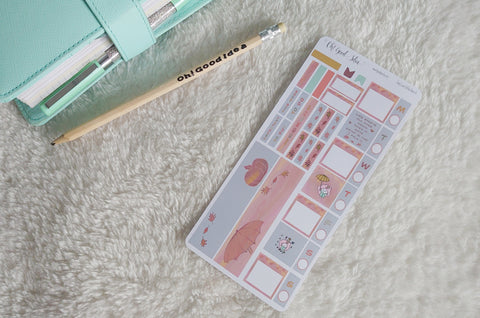 Oh! Good Idea Teedy Autumn, Fall planner kit stickers, hand drawn stickers for planners, hobonichi weeks kit
