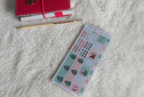 Oh! Good Idea Teedy Christmas, Holiday, Winter planner kit stickers, hand drawn stickers for planners, hobonichi weeks kit